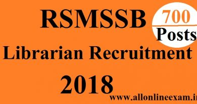 RSMSSB Librarian Grade III Recruitment 2018