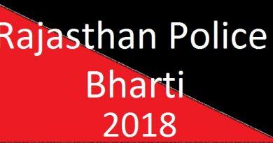 Rajasthan Police Bharti 2018 Notification