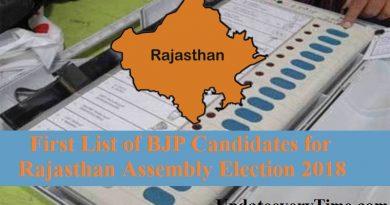 राजस्थान विधानसभा चुनाव 2018