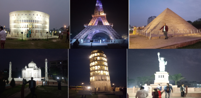 A memorial journey with 7 wonders of the world in kota